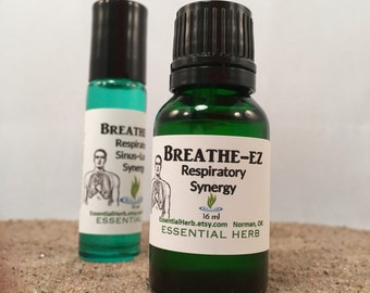 BREATHE-Ez Essential Oil, Breathe Easy, Breathe, RC, Raven, Sinus, Lung, Natural Allergy, Congestion, Respiratory, Post Nasal Drip