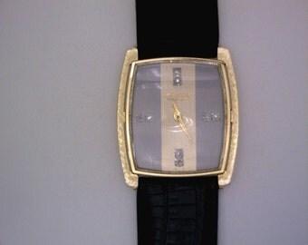 Vintage Longines 14k Gold Watch with Diamonds