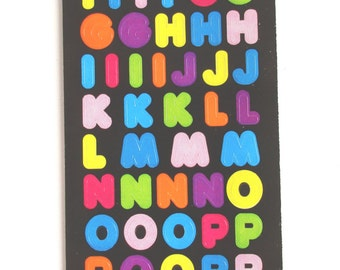 Sandylion Alphabet Semi Glossy Paper Stickers - 1 Sheet - 84 stickers