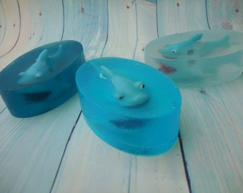 Shark Soap - Great White Shark - Ocean Soap - Shark Pool Party - Pool Party Favors - Summer Birthday Party Favor - Soap For Kids - Fish Soap