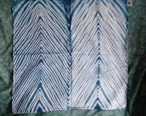 Arashi shibori bandana - pure cotton bandanas with Japanese pole wrapped tie-dye stripe pattern.