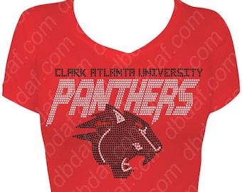 Clark Atlanta University Rhinestone Design
