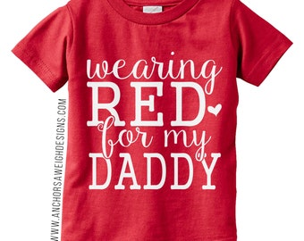 Wearing RED for my Daddy Youth Tee