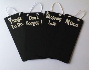 Chalkboard, blackboard, hanging chalkboard, memo board, don't forget board, shopping list, things to do board, hand painted,