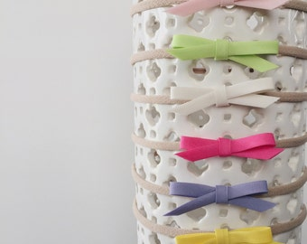 A set of 6 summer bow headbands || FREE SHIPPING!