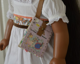 """The Puppy Nobody Wanted Book Purse for 18"""" play dolls such as American Girl® Dolls"""