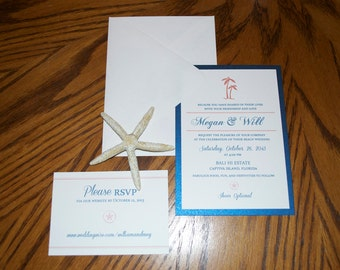 Single Panel Wedding Invitation
