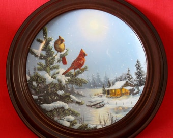 """Moonlight Retreat By DL """"Rusty"""" Rust Collectors Plate With COA Plate Number 4938"""