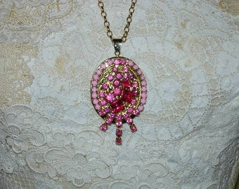 Handmade Upcycled Locket with Chain
