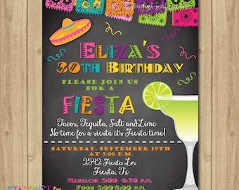 Fiesta Birthday Invitation, 30th Birthday Fiesta Invitation, 21st Birthday Fiesta Invitation, 50th Birthday Fiesta Invitation