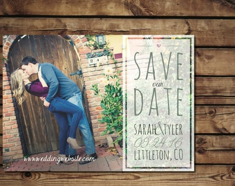 Vintage Style Save the Date, Digital File
