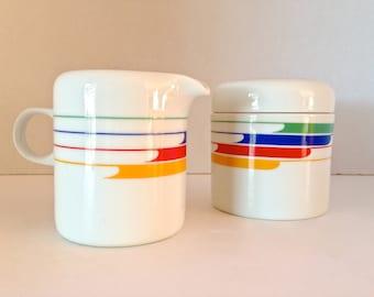 Vintage Studio Nova Round Sugar and Creamer Set
