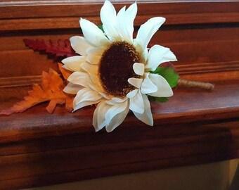 Rustic Fall Sunflower Wedding Boutonniere, Rustic Wedding Boutonniere, Sunflower Boutonniere, Fall Boutonniere