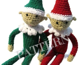 Crochet Elf Pattern, elf plush pattern, amigurumi elf pattern, Christmas elf, holiday elf, elf toy, elf plush, cute elf pattern