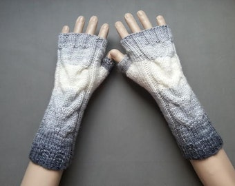 EXPRESS SHİPPİNG!Hand-Knit Fingerless Gloves/Mittens/Winter Accessories/ReyyanCrochet