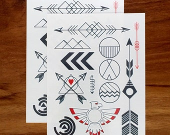 Temporary tattoos - The Right Way set // Arrow tattoo // gift for her // Goody Bags