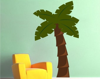 Palm Tree Vinyl Wall Decal Bedroom Design For Kids Or Nursery Room, Palm  Tree Art