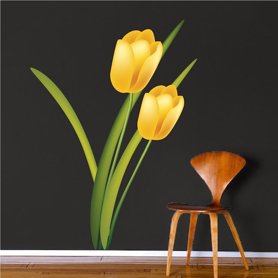 tulip border wall stickers - photo #33