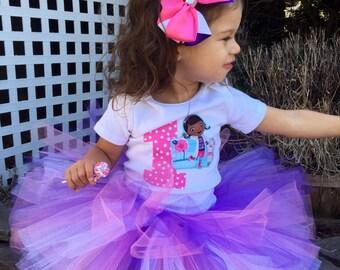 Doc McStuffins Tutu Outfit, Doc Tutu Set, Purple Tutu Set, Doc McStuffins Tutu Set, Doc McStuffins Birthday Outfit, Doc McStuffins Birthday