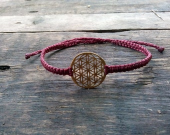 Macrame Flower of Life Bracelet/Anklet/Necklace