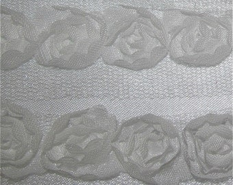 White Rose Bud Trim By The Metre - 8 Colours