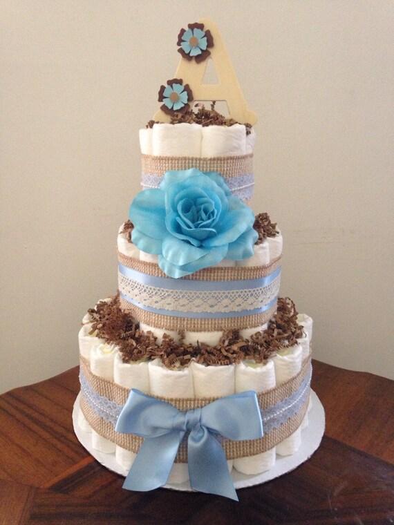 cake burlap diaper cake rustic baby shower vintage rustic baby shower