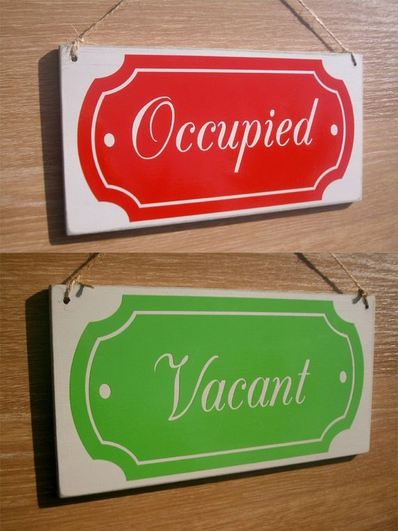 Bathroom Door Signs Vacant bathroom occupied lock | carpetcleaningvirginia