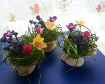 Miniature flower pot, fairy garden flower pot,miniature planter, fairy planter pot,fairy accessories, fairy house, fairy garden decor