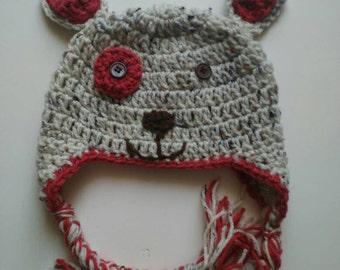 Crochet puppy hat