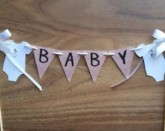 Custom Made Personalized  Baby Shower Cake Bunting Lolly Bar Cake Table Photo Shoot Cake Party Table Decor