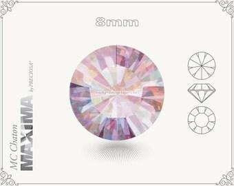 6 pc.+ SS39 (8mm) Preciosa MC Chaton MAXIMA - Rose AB Color