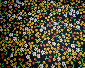 Vintage Cotton Fabric Yardage 1/2 Yard Cut