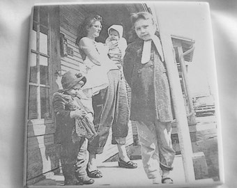 Photo Tiles Ceramic Laser Engraved w/ Your Photo Custom Personalized Pictures