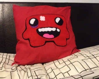 Super meat boy pillow