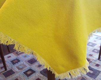 SALE - Lemon Yellow Vintage Table Cloth
