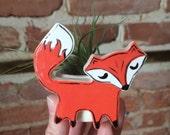 Fox, Mini Planter, Air plant holder, Ceramic Planter, Handmade, Air Plant, Tillandsia, Airplant, Fox Planter, Planter, Wedding Favors