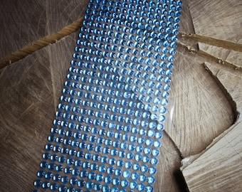 Blue Diamante Strip ~ 1 pieces #100657