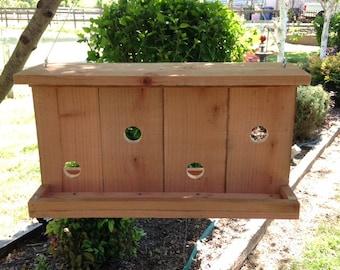 Dual Tray Bird Feeder (Redwood Fence Style)