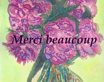 Merci beaucoup - thank you cards
