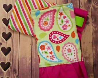 Kinderpack Green Paisley Accessories