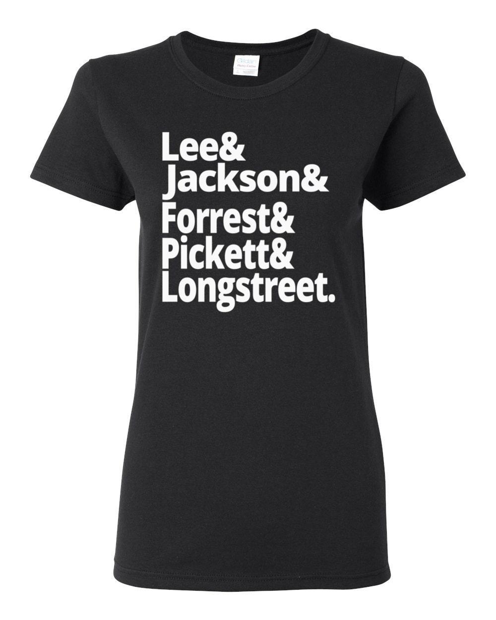US Civil War - Confederate Generals - Lee, Jackson, Forrest, Pickett, Longstreet - Women's US Civil War History T-shirt