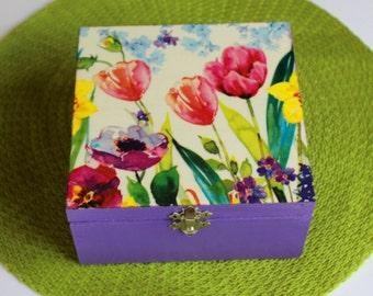Beautifully hand-decorated box