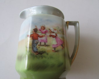 Royal Bayreuth Child's Creamer Vintage Children Playing Creamer