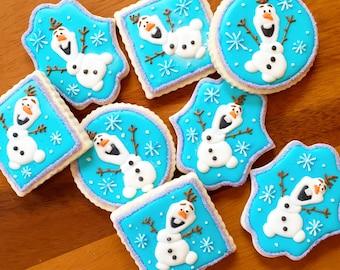 12 Olaf Cookies