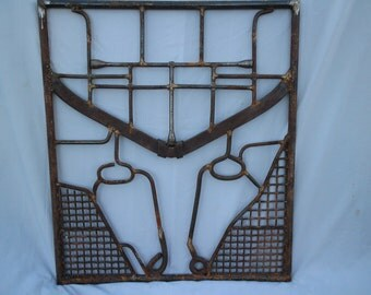 Cow Head Metal Gate