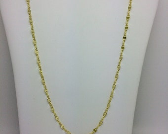 14K Solid Yellow Mirror Chain