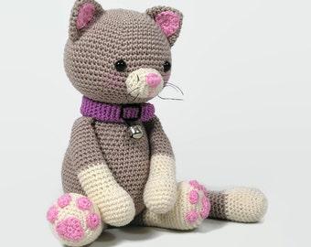 Crochet  Cat- Stuffed kitty - Plush-Stuffed pet - Animal toy - Handmade cat - Crochet Toy - Amigurumi cat - toy cat - crochet kitty