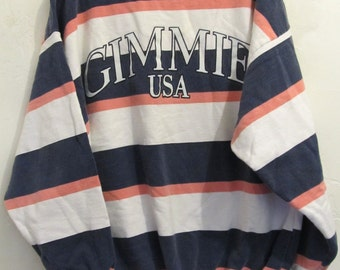 Marked Down 25%@@A Cool Vintage 80's,Bold OVERSIZED Striped Sweater by GIMME usa.M