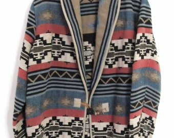 A Beautiful Vintage 80s,SOUTHWEST/TRIBAL Print TAPESTRY Jacket by Flashback.M