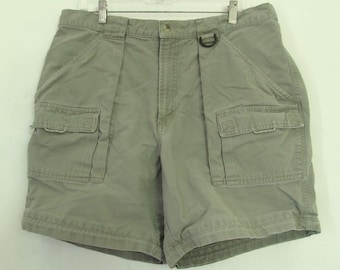 Mens Vintage Green Colored CARGO Shorts By COLUMBIA.XL(38W)